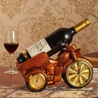 Motorcycle Clock Wine Rack Wine Cabinet Decoration Ornaments European style Resin Crafts Home Decoration Accessories