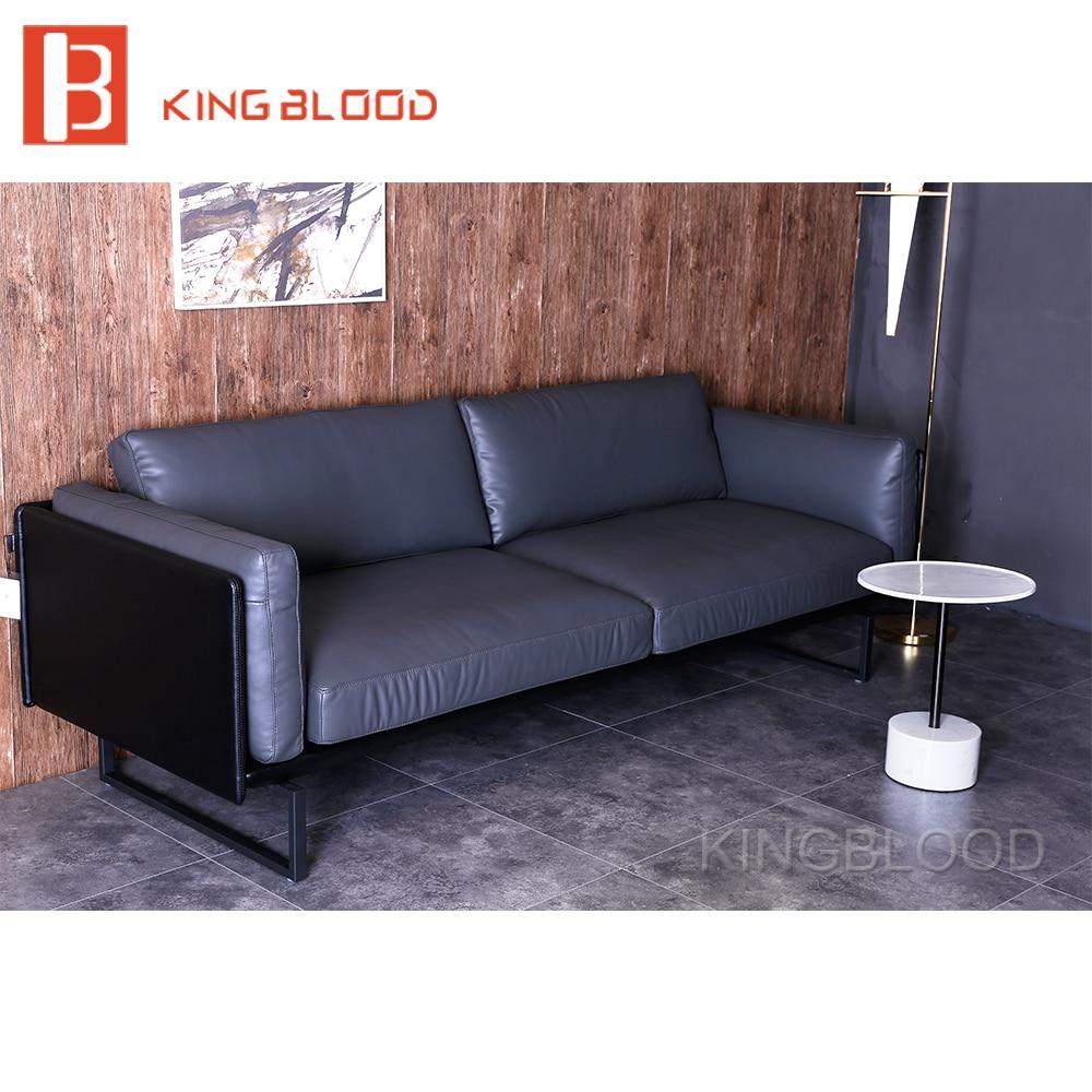 Sof De Compra De China Gris Puro Muebles De Sala De Cuero Dise Os  # Muebles Puro Cuero