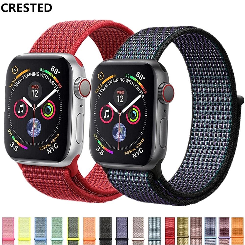 Хохлатый ремешок для apple watch band apple watch 4 3 iwatch band 42 мм 38 мм 44 мм 40 мм correa Браслет спортивная петля аксессуары для часов