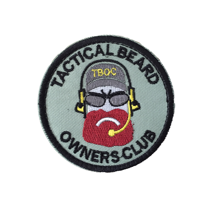 Military Tactical Beard Embroidery armband morale Patch Badge