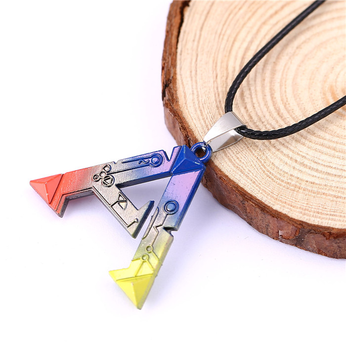 H&F 12pcs/lot game ARK Survival Evolved colorful collar necklace male necklace Metal Movement Pendant necklace Souvenirs Gift