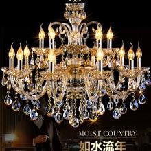 Modern Living room glass crystal chandelier large luxury lamps modern lamp fashion lighting transparent gold K9