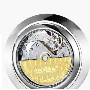 Image 3 - Часы наручные GUANQIN Мужские механические, брендовые Роскошные ультратонкие, с календарем, водонепроницаемость 30 м, 10 мм