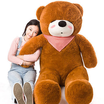 Stuffed animal 47 inch dark brown sleeping Teddy bear plush toy soft doll throw pillow gift w1684 stuffed animal largest 200cm light brown teddy bear plush toy soft doll throw pillow gift w1676
