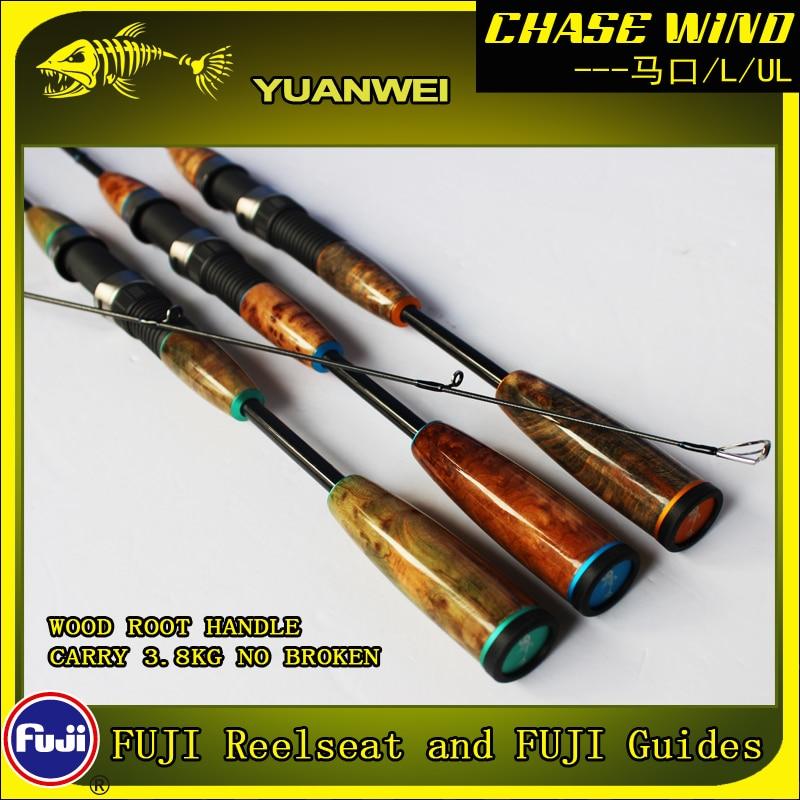 Yuanwei 1 98m 2 1m Spinning Rod UL L 2Section Carbon Rod Vara De Pescar Carpe