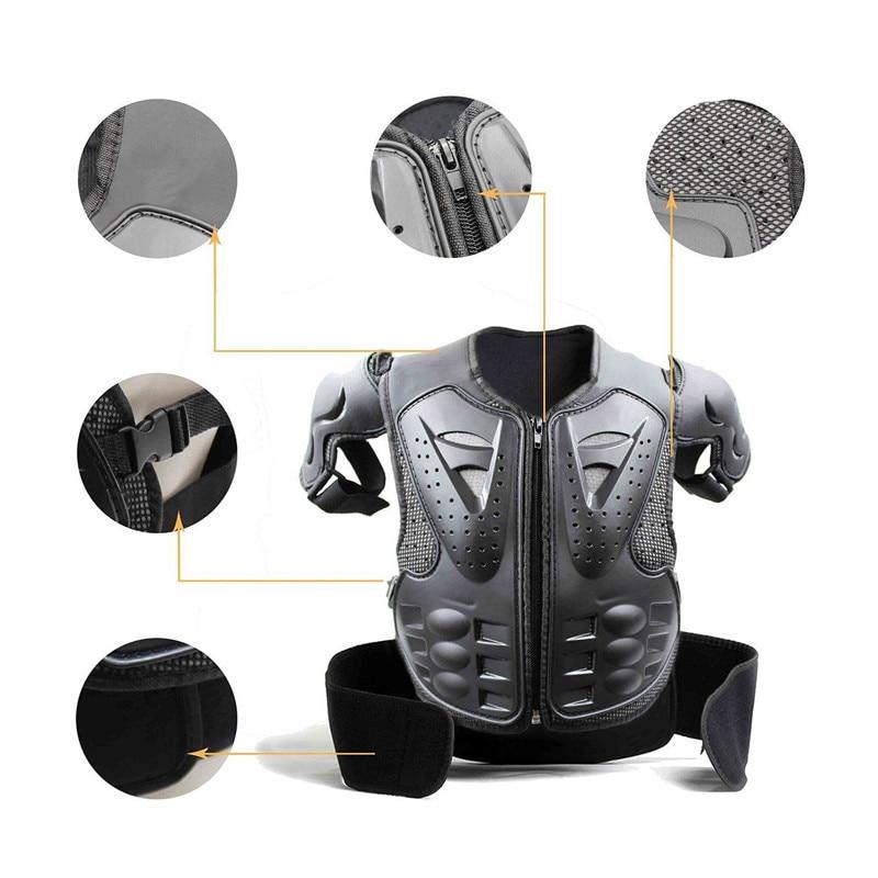 Nouveau gilet noir de protection de poitrine Motocross Dirt Bike jeunesse enfant