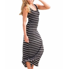 Maxi Striped Long Summer Vest Dress