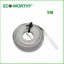 ECO-WOTHRY 5 Meters 5mm Wide Bus Wire Solar Cell Bus Bar Wire for DIY Solar Panel