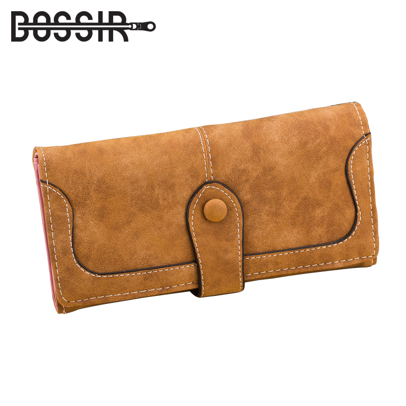 Fashion Womens wallets and Purses Vintage Casual PU Leather Women Purse Patchwork Female Long Wallet carteira HB-272 fashion anime wallets cartoon movie wonder woman printing purse carteira casual style kids girls women pu leather short wallet