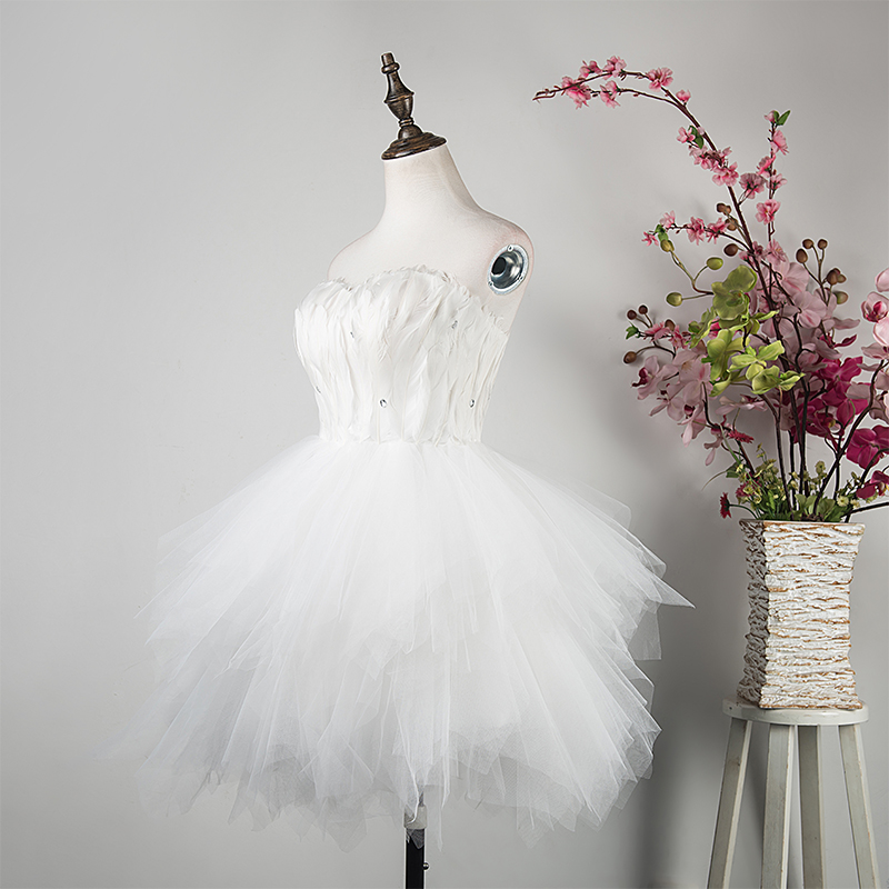 2016 Sweetheart Beaded Mini   Cocktail     dresses   ostrich feather short homecoming   dresses   Real Photo New Fashion