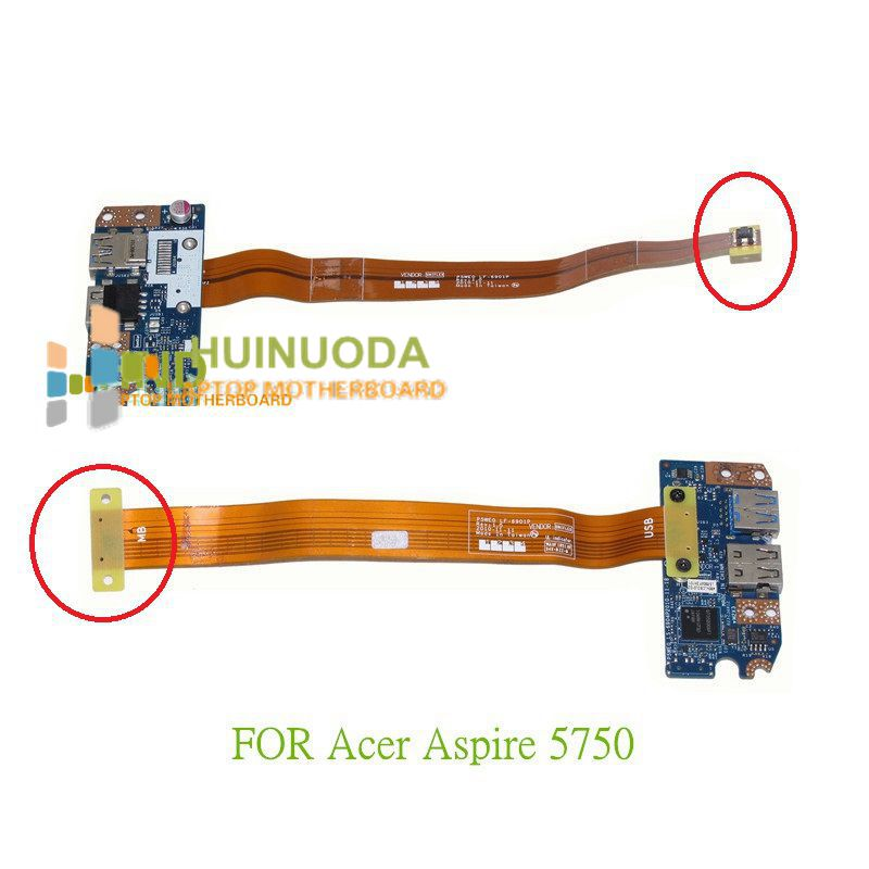 NOKOTION P5WE0 LF-6901P UNIFLEX cable P5WE0 LS-6904P For acer aspire 5750 gateway NV57 USB 3.0 board with yellow cable rosenberg 6904