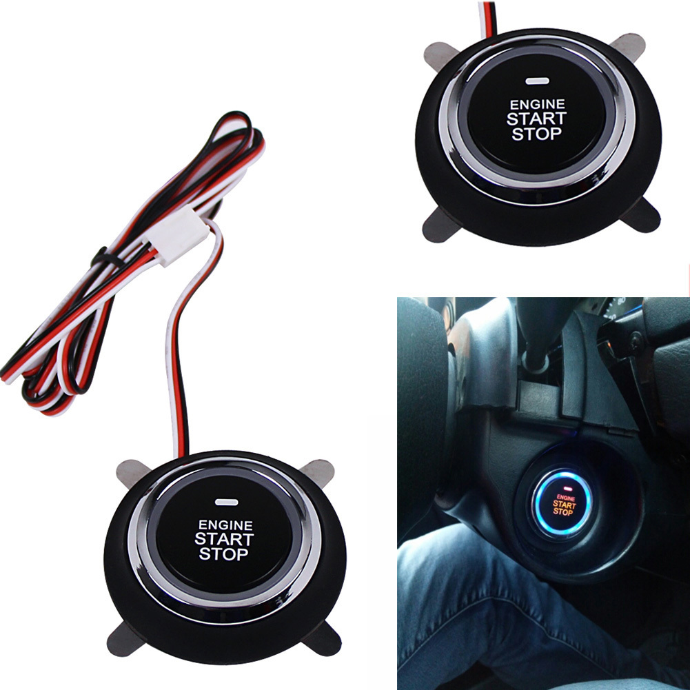 Car Engine Push Start Stop Button for Toyota Ford Peugeot 307 Mercedes Volkswagen Mazda 3 Passat B6 Auto Ignition Remote Starter