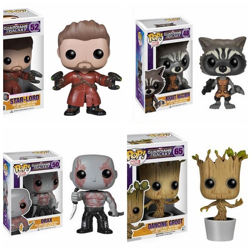 FUNKO POP Guardians of the Galaxy Groot Rocket Peter Quill Figure Toy new funko pop guardians of the galaxy tree people groot