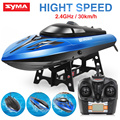 2016 Hot SYMA Q1 Q2 Remote Control Speedboat 2.4GHZ 4CH RC boat Water Sensor Switch Cooling Device High Quality Toys Gift