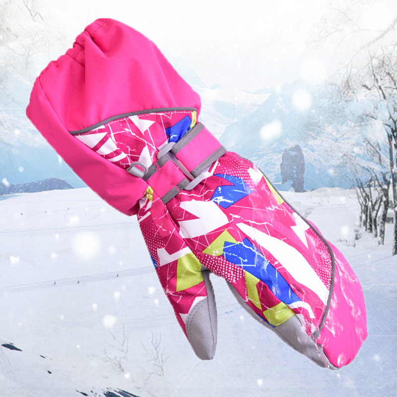 Motivated Kids Winter Gloves Baby Boys Girls Mittens Thicken Velvet Warmer Snowboard Gloves Waterproof Windproof Child Skiing Gloves Strong Packing