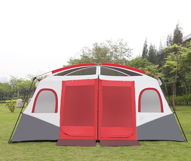 DANCEHL Luxury Camping Tents With Roof 10 To 12 Person Cabin Big Large  Camping Cabian Tent