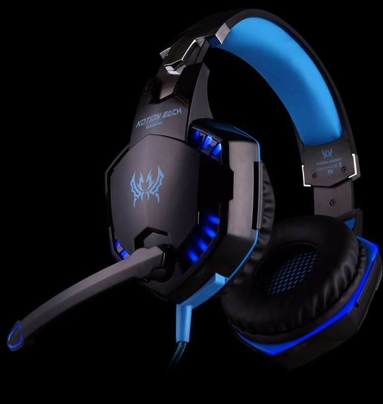 EACH G2000 Over-ear Gaming Headphone Headset Earphone With Mic Stereo Surrounded Bass LED Light For PC Game (11)