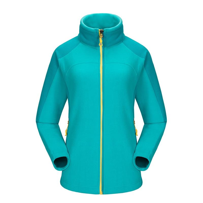 Womens Thermal Long Sleeve Outdoor Trekking Hiking Jacket Women Leisure Sport Camping Climbing Coat Jogging Polar Fleece Jackets