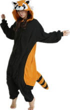 Children Kids Adults One Piece Costumes Anime Coon Raccoon Cosplay Pajamas Unisex Carnival Halloween Onesie Masquerade Party