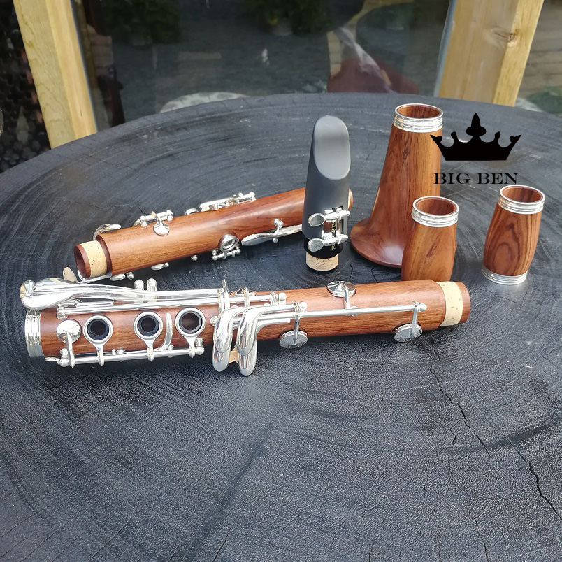 freigh free quality softwood Bb white copper button clarinet profession performs red wood clarinet high quality details