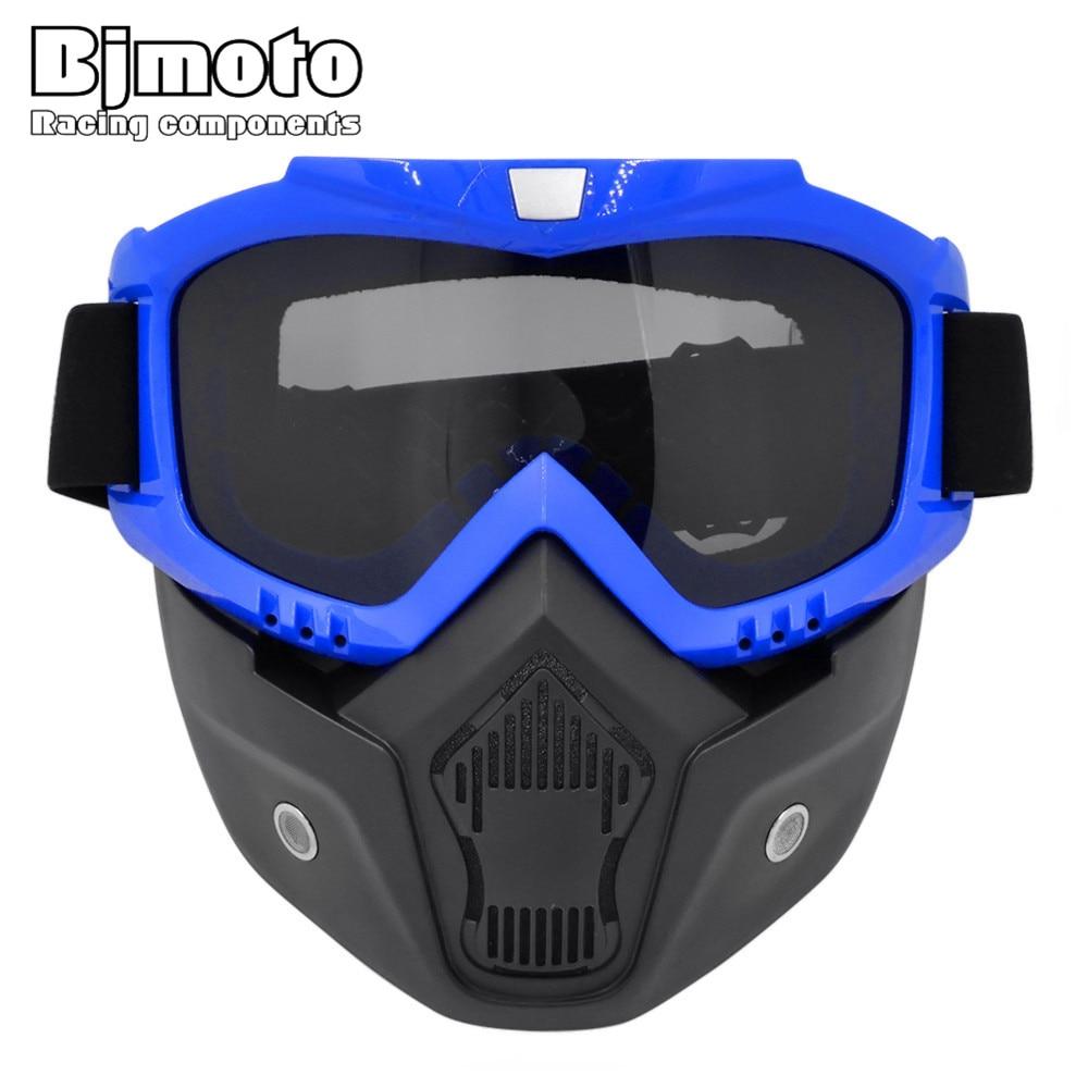 78f7c5cef6db9 BJMOTO Racing Capacete Aberto Da Cara do Capacete Da Motocicleta Óculos de  Proteção Do Vintage Máscara