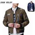 Fashion Spring Fall Men Jacket Printed Causal Coats Loose Fit Big Size M-3XL Zipper Fly Outerwear
