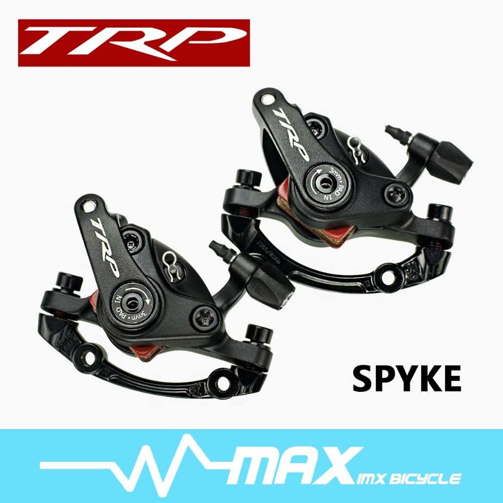 TRP 2015 Spyke Alloy Mechancial Disc Brake Caliper Dual Side Actuation MTB with 160mm Rotor -Front /Rear /Set 2 pair universal car 3d style disc brake caliper covers front rear