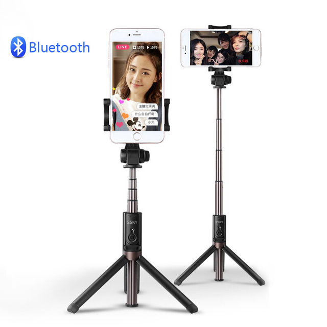 official photos c09b2 db3f4 US $17.99 10% OFF Bluetooth Wireless Selfie Stick Remote tripod Foldable  Shutter for iPhone 7 plus iPhone 6 6s iOS for Samsung Android Smartphone-in  ...