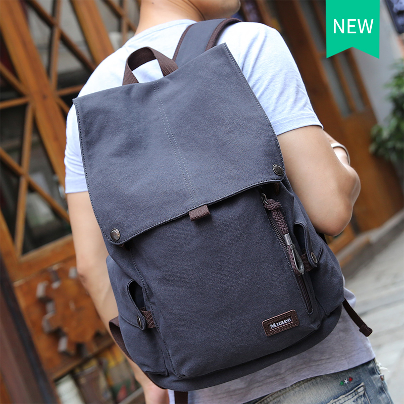 559519662be4 2017 Muzee New Male Canvas Backpack High Capacity Travel Bag Laptop 15.6  inch backpack Men School ...
