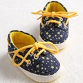 Free Shipping Baby Soft Bottom Lace-up Toddler Shoes Boys First Walkers Shoes Bebe Non-slip Crib Shoes Zapatos