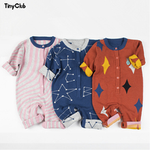 2019 Baby Knitted Romper Cotton Plaid Overall Infant Onesie Playsuit Autumn Spring lovely Winter boys girls kids clothes