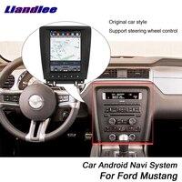 Liandlee Car Android For Ford Mustang 2010~2014 Original Tesla Style Radio Carplay GPS DAB+ Wifi Navi MAP Navigation Multimedia