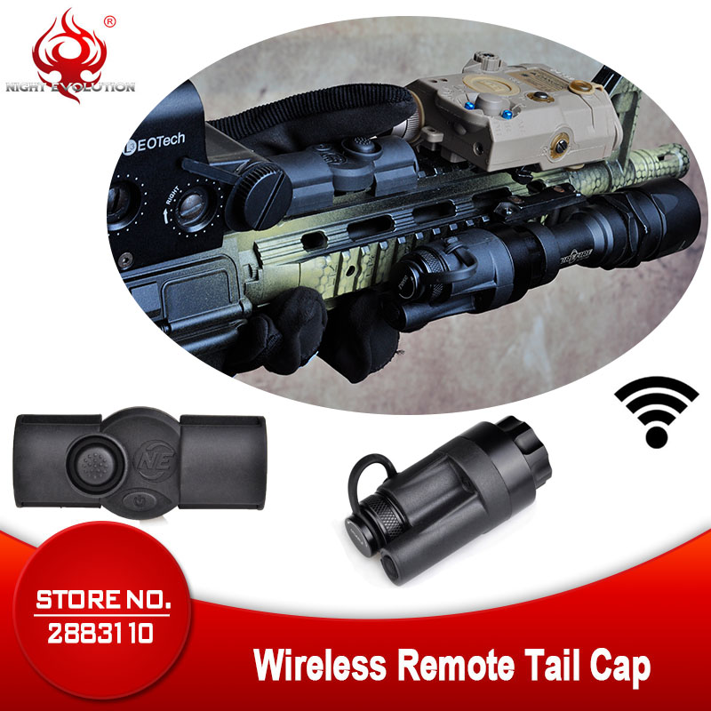Night Evolution Rifle Gun Airsoftsports Tactical Light Aluminum Wireless Remote Control Tail Cap Mount For M951