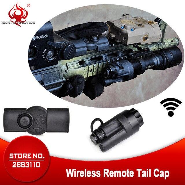 Airsoft Tactical Accessories Rifle Gun Aluminum Wireless Remote Control Tail Cap Mount fit SF M951 M952V M961 M971 Flashlight