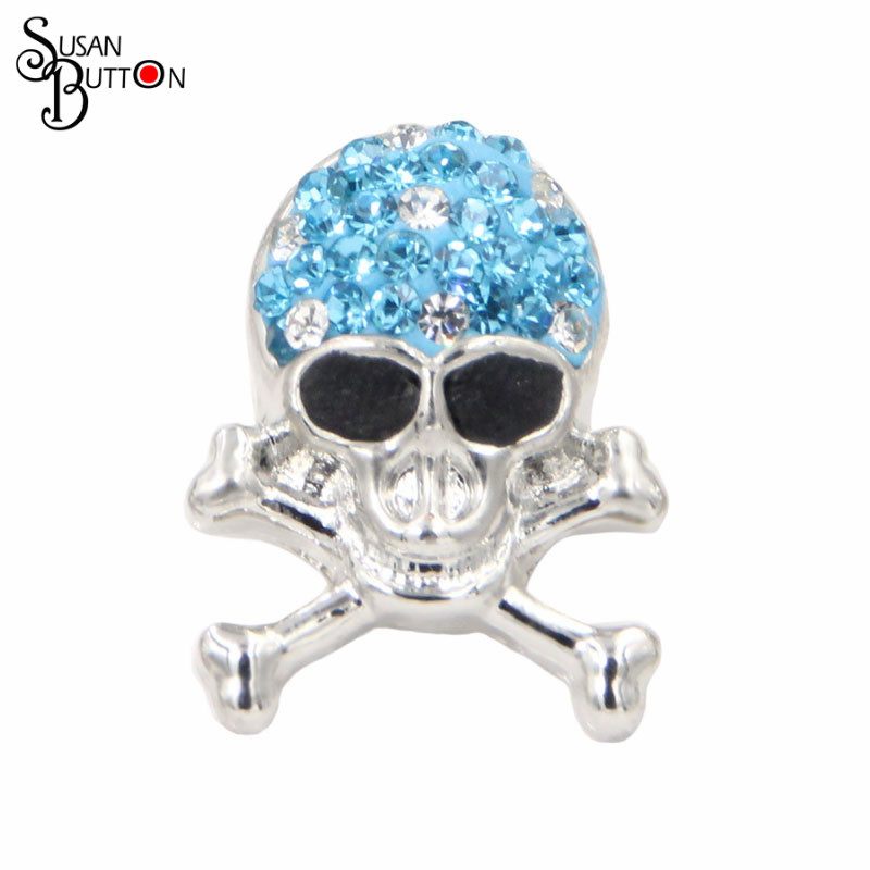 Rhinestone Snaps Snap Charm Silver Tone Hinged Snap Button Bracelet Bangle  Chunky Interchangeable Metal SJSB1269. US  14.80. 12pcs lot Silver Metal  Skull ... 93dd92787036