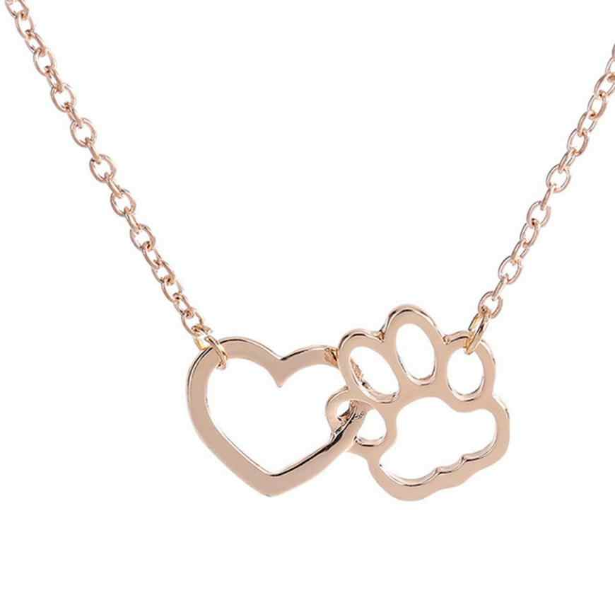 Stylish Necklace For Women Necklaces Personalized Fashion Jewelry Accessories Dog Paw Elegant Necklace Popular Torque Choker