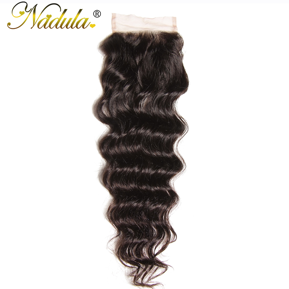 Nadula Hair 10-20INCH  Natural Wave Closure 100%  s 4*4 Free Part Swiss Lace Closure  2