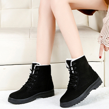 Snow boots 2019 classic heels suede women winter boots warm fur plush Insole ankle boots women shoes hot lace-up shoes woman women boots high quality classic lace up women winter diamond thick soled boots ankle snow boots female warm fur plush insole