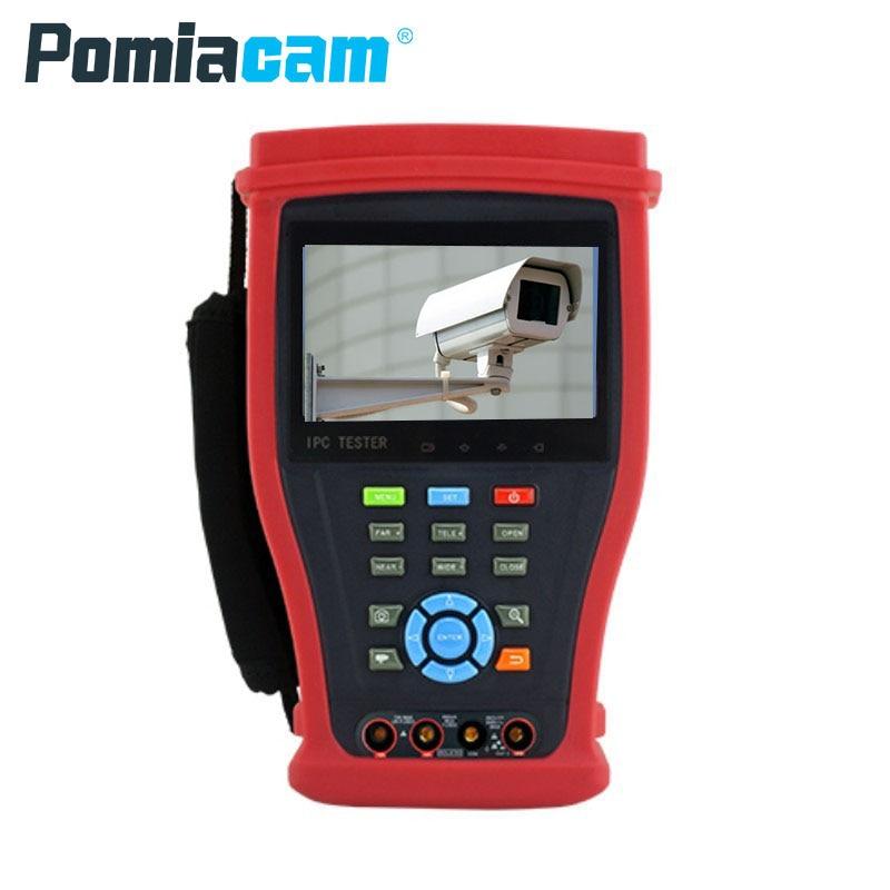 IPC4300ADHS Plus Free IP Analog AHD CVI TVI IP camera tester 4K H.265 CCTV camera tester