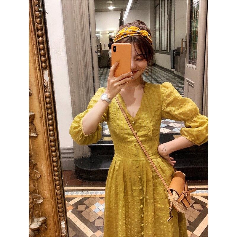 PM 4/25 fée recevant le nécessaire lin mélangé fée taille robe nouvel été 2019