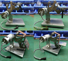 Small mini belt machine, DIY polishing grinding fixed angle sharpening desktop handicraft