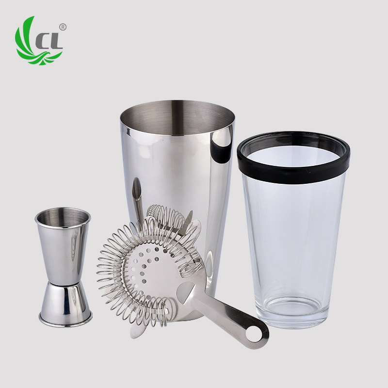 800ML Glass Cocktail Shaker Shaker Snow Kettle Wine Bar Tool Set