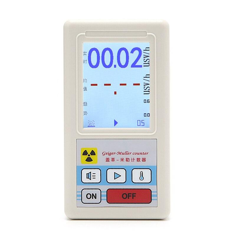 Compteur de Radiations Nucléaires Détecteur Dosimètres Marbre Testeur Avec Écran D'affichage