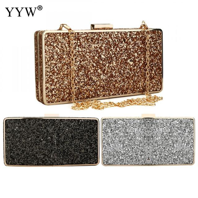Zinc Alloy Women Sequin Clutch Bag Gillter Bolsos Mujer Gold Luxury Evening  Party Bags Clutches Purse Sparkle Chain Phone Bags d2e826c916d7