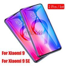 лучшая цена 2Pcs 9H Tempered Glass for Xiaomi Mi 9 MI9 SE lite Screen Protector Full Cover Glass For Xiaomi Mi 9 9SE Protective Film Glass