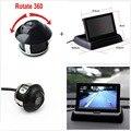 Dobrável 4.3 polegada do Monitor Retrovisor Do Carro com Câmera de Visão Traseira Do Carro Estacionamento Assistência