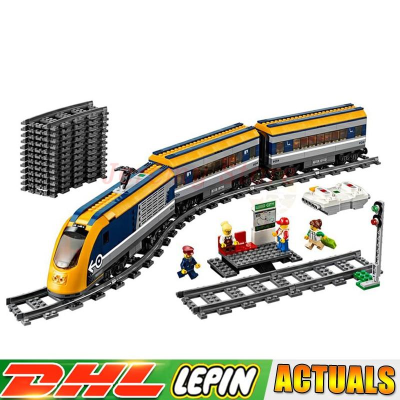 LP 02117 City Series Passenger Train Model Building Blocks Bricks LegoINGlys toys Christmas gift Compatible legoings 60197