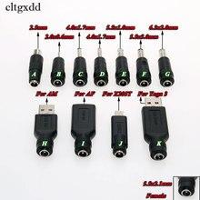 Cltgxdd Adaptador de conector de alimentación, 1 Uds., 5,5x2,1mm, Jack a USB hembra, 2,0x2,0, 0,6x4,0, 1,7x5,5mm, macho, DC, para Asus X205T