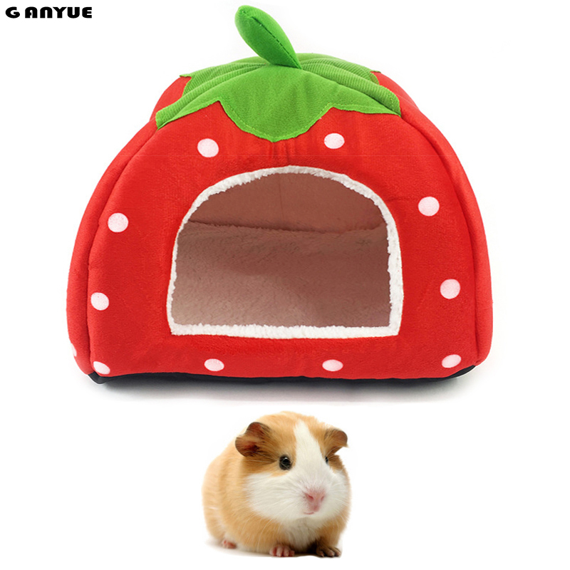 Ganyue Small Pet Sleeping House Hamster Rabbit Home Bed Soft Guinea Pig Nest Bed Mini Animals Hedgehog Rats Warm House Bed
