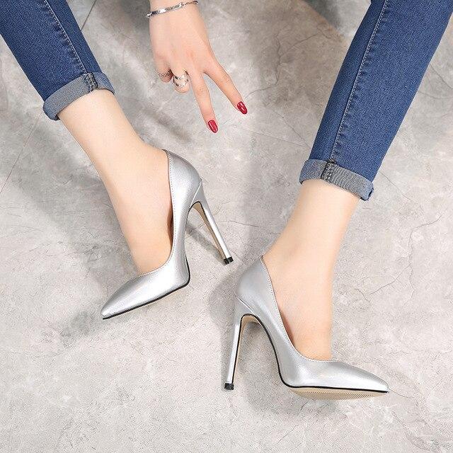 0956bdc82766 POADISFOO 2019 New Fashion Autumn Fashion High Heels Beautiful women s Shoes  Stiletto Pointed Shoes Ladies High Heels WZ-x011